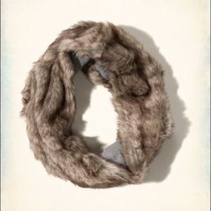 Hollister Faux Fur Infinity Scarf